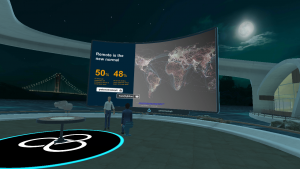 Looking through slides in virtual reality