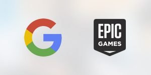 Google and Epic Games. Photo credit: The Esports Observer.
